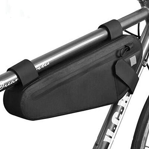 JOWBCB Waterdichte fietstas met reflecterend logo, straaltas, zadeltas, scheurbestendig, draagbaar, duurzaam, geschikt voor alle fietsen