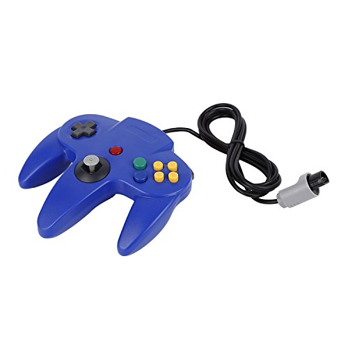 Game Controller,OCDAY Game Controller Joystick for Nintendo 64 N64 System Deep Blue Pad Mario Kart