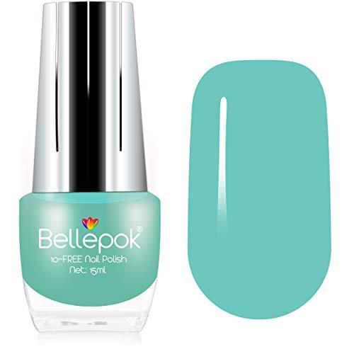 Esmalte de uñas natural, sin 10 unidades, fórmula ecológica, color menta