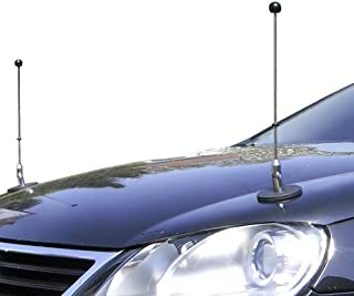 Pair Magnetic Car Flag Pole Diplomat-1