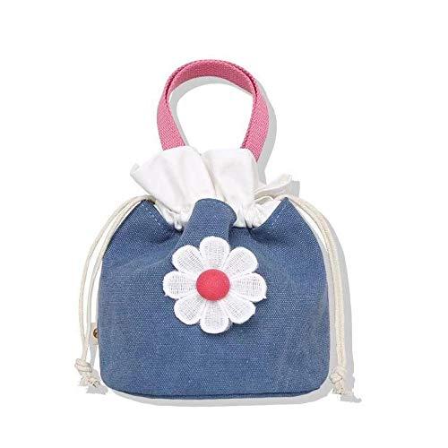 SlimpleStudio Trousse de Toilette Sac-Daisy cosmétique Portable Couleur café Kit de Voyage (Color : Light Blue Daisies)