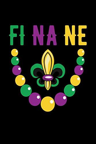 "Finane Fleur Beads: Mardi Gras Notebook   Cool Carnival Shrove Tuesday Journal New Orleans Festival Mini Notepad (6""X9"")"