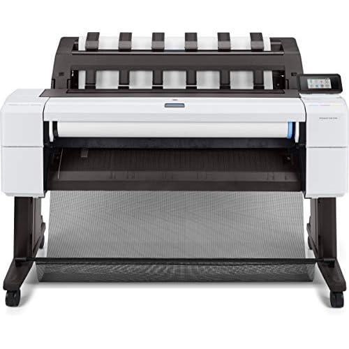 HP DesignJet T1600dr 3EK12A, da 91 cm, Velocità 180 Stampe A1 all'ora, Grammatura da 60 a 328 g/m², LAN Gigabit, USB, Wi-Fi, Piedistallo e Doppio Rotolo Incluso, Bianco