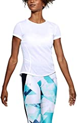 Under Armour Camiseta de Manga Corta Color Blanco para Mujer