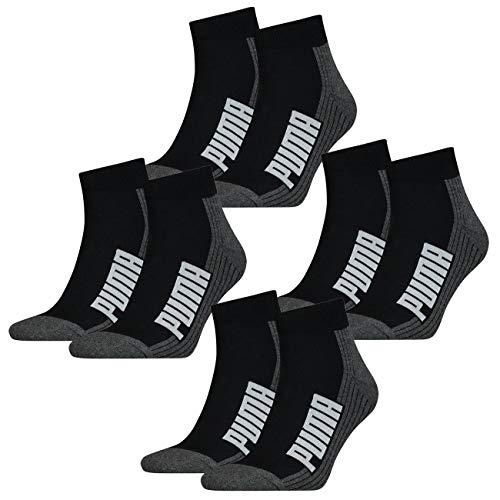 PUMA Unisex Herren Damen Quarter Socken BWT CUSHIONED 8er Pack Schwarz Weiss Blau Rosa 35-38 39-42 43-46 83% Baumwolle, Black/White, 39/42