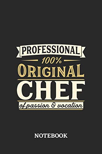 Professional Original Chef Notebook of Passion and Vocation: 6x9 inches - 110 blank numbered pages • Perfect Office Job Utility • Gift, Present Idea