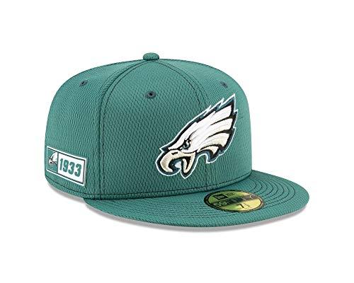 New Era Gorra Oficial de Philadelphia Eagles para Hombre, NFL Sideline Road...