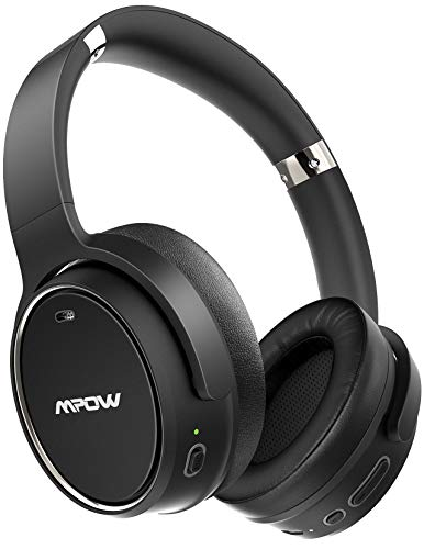 Mpow H19 Hybrid Noise Cancelling Headphones, 100Hrs Wireless Headphones Over Ear, Bluetooth 5.0 Headphones, Deep Bass, CVC 8.0 Mic, Wired and Wireless Headset for Travel, Home Office, Online Class