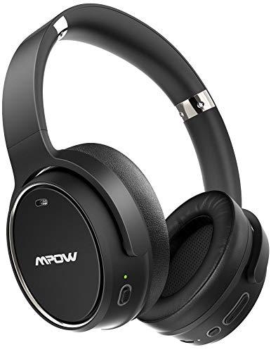 Mpow H19 Auriculares con Cancelación de Ruido con 100 Horas, Auriculares Diadema Bluetooth 5.0 con Micrófono CVC 8.0, Hi-Fi Sonido Estéreo, Cascos con Cancelación de Ruido para PC, TV, Móvil