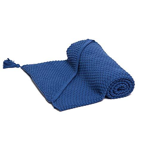 Fun with mum KNI-BLA-HOO-NAV-BLU Couverture en coton avec capuche Bleu marine