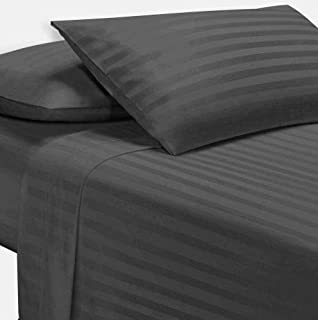 The Great American Store Luxury (Full, Stripe Grey) Sleeper Sofa Sheets with 5 Inch Deep Pocket - 1800 Series Premium Double Brushed Microfiber Bed Sheets for Sofa, Hide A Bed