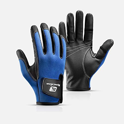 Asolym Handschuhe für den Außenbereich Atmungsaktive, Abriebfeste, rutschfeste, Fingerlose Fischerhandschuhe für Männer und Frauen,Blue,M