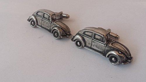 VW Beetle 3D Manschettenknöpfe aus feinem englischen Zinn