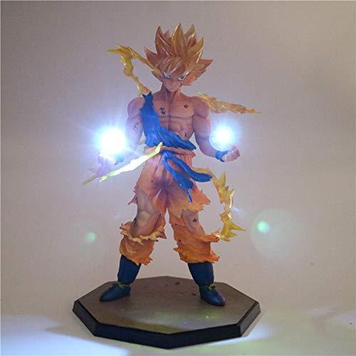 Yvonnezhang Anime Dragon Ball Z Fils Goku LED Lumière Super Saiyan PVC Action Figure Collection Modèle Jouet Veilleuse pour Enfants Cadeau décor Lampe @ 5