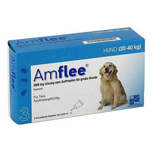 AMFLEE 268 mg Spot-on Lsg.f.große Hunde 20-40kg 3 St Lösung