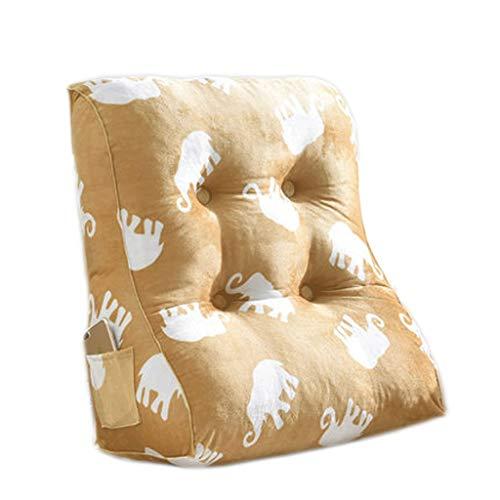 LF- Driehoek kussen slaapkamer, kinderkamer, kantoor driehoek lumbale kussen multi-color afneembaar en wasbaar ondersteuning (Color : A, Size : 45cm)