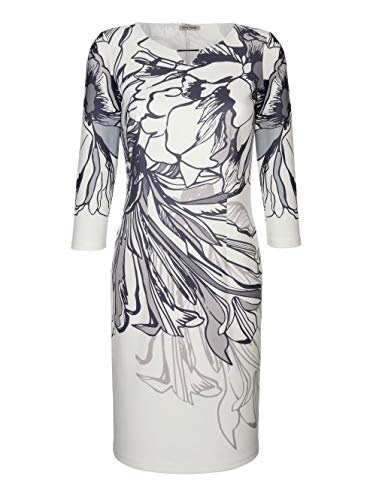 Alba Moda Damen Kleid Grau 44 Kunstfaser