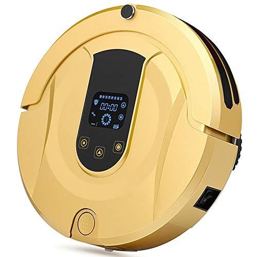 Robot Vacuum Cleaner Aspiradora robot de limpieza Modos Auto-robótico de carga aspirador for alfombras for pisos duros Trabajos sobre pisos duros a la alfombra ( Color : Gold , Size : One Size )