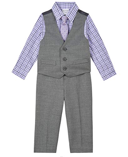 Van Heusen Baby Boys 4-Piece Formal Dress Up Vest Set, Grey Shade, 18 Months