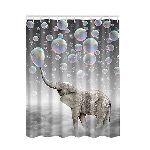 Poseca Duschvorhang, Duschvorhänge Badewannenvorhang mit Anti-Schimmel-Effekt, Wasserdichter Duschvorhang 180x180cm inkl.12pcs Ringe