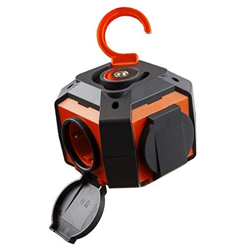 REV 0015490412 PowerGlobe, 3680 W, Interruptor, 1,4 m, IP44, Naranja