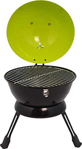ACTIVA Green Grill Grillwagen Holzkohlegrill Grill Barbecue Holzkohle Grillwagen Edelstahlgrill Holzkohle Edelstahl Grill Kohle Grillwagen Kleiner Grill Barbecue Grill