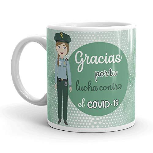 Kembilove. Tazas Desayuno Originales para Guardia Civil – Taza de café de Agradecimiento para Guardias Civiles Que lucharon en Ayudar a la Gente – Regalos Originales para Guardia Civil Chica