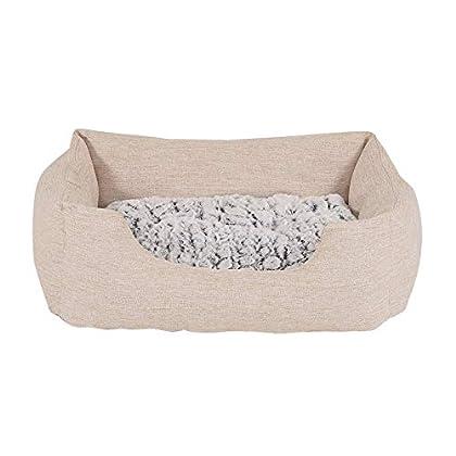 HOHER GEMÜTLICHKEITSFAKTOR. Dieses besonders weiche und kuschelige Hundebett darf in keinem Haushalt fehlen. Der rutschfeste Boden mit Anti-Rutsch-Noppen sorgt für optimalen Halt und das moderne Design für einen echten Hingucker. PRAKTISCHES WENDEKIS...