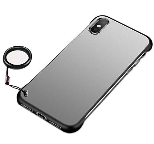 Compatible con iPhone 6/6S, funda transparente mate y rígida, carcasa ultrafina para iPhone 6/6S multicolor Negro  iphone 6/6S