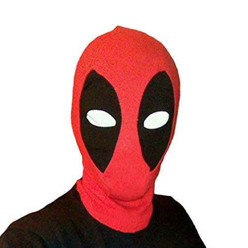 Rulercosplay Halloween Cosplay Mask - Character Dead Pool Design Cosplay Mask Red