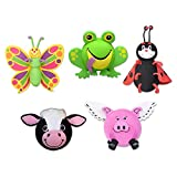 Tenna Tops Assorted Animal Car Antenna Toppers/Antenna Balls/Mirror Danglers/Desktop Spring Stands (Butterfly,...