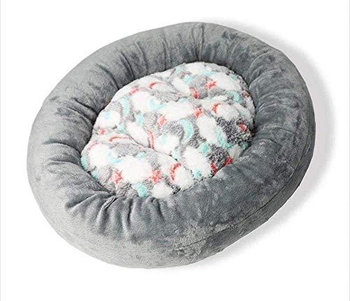 Hundebetten Pet Nest Kitten Puppy Plüsch Matratze Katzenbett Rund Donut Stern-Mond-Kissen (Medium 60x52x8cm) (Farbe: grau Größe: S) xiao1230