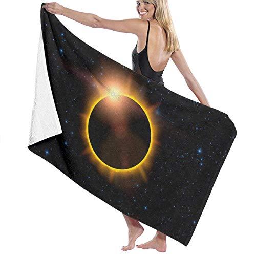 Yaxinduobao Unisex Total Solar Eclipse USA Sun Premium Badetuchs Ultra Soft Extra...