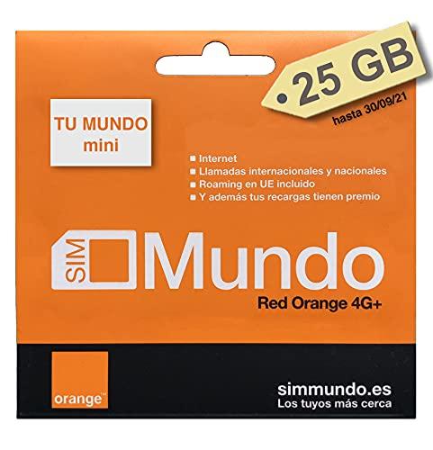 Orange Spain - Tarjeta SIM Prepago con 25 GB en España | 400 Minutos Nacionales e internacionales | Activación Solo Online en www.marcopolomobile.com