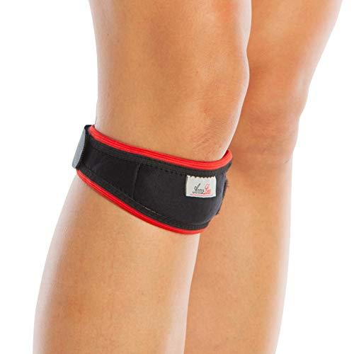 Vendaje con correa protectora para el tendón y la rótula, de neopreno, ajustable, para aliviar el dolor de lesiones al tendón, tendinitis, para hacer deportes de acción o correr