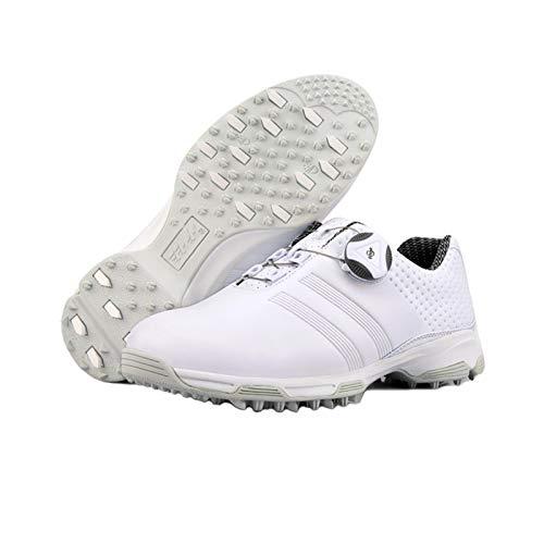 CGBF-Zapatillas de Golf Transpirables Impermeables para Mujer,Blanco,38 EU