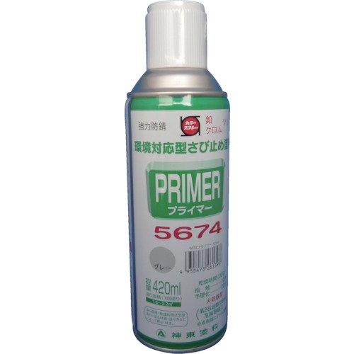 TRUSCO シントー 新東 プライマー5674グレー 420ML 9972639