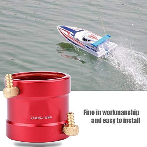 Dilwe RC Boot Wasserkühlung Jacke, Aluminium Wasserkühlung Jacke für 36mm-40mm Motor RC Modellboot Zubehör Metallteile