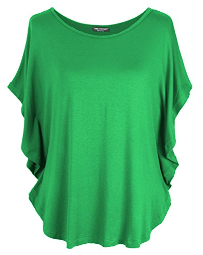 Emma & Giovanni - T-Shirt/Oberteile Kurzarm - Damen (Grün, M-L)