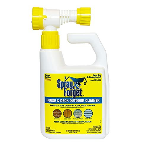 Spray & Forget House & Deck Outdoor Cleaner Hose End Adapter...
