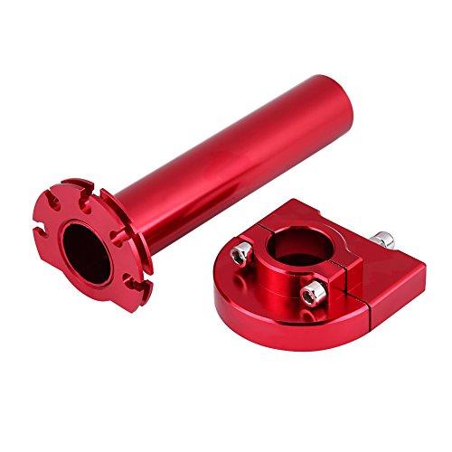"""Qiil u Universal Throttle Twist Grips, 7/8 """"22mm Manubrio Throttle Twist Grips Accelerator per moto Scooter Dirt Bike(Red)"""