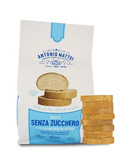 Antonio Mattei Premiata Fabbrica di Biscotti Tartines de Pain briochée sans Sucre, biscottes Italiennes - Lot de 10 x 200g