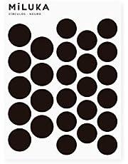 Pegatinas y Vinilos para Decoración de Pared | Círculos Puntos | Adhesivos Decorativos Nórdico Infantil | 52uds | Varios Colores