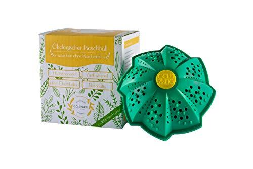 GOLDZWEIG® Premium Öko Waschball für die Waschmaschine | Waschen ohne Waschmittel | BPA-frei und Nachhaltig | Bio Waschkugel - Umweltschonend, Antibakteriell & Allergikerfreundlich