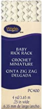 Wrights Baby Rickrack Quilting Supplies, 1/4 by 4-Yard, Oyster