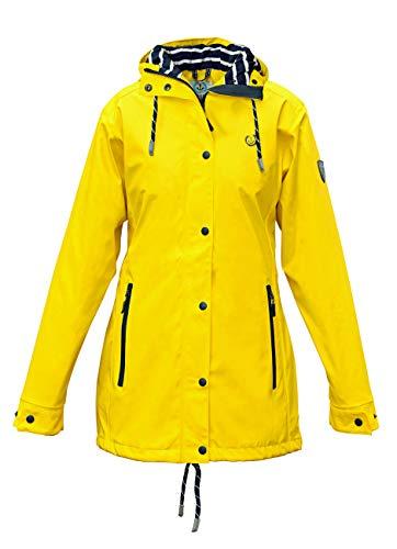 MADSea Damen Regenmantel Friesennerz gelb wasserdicht, Farbe:gelb, Größe:38