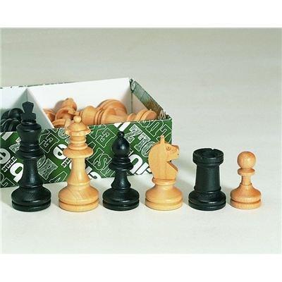 Weiblespiele 01111 - Schachfiguren 62 mm, schwarz/Natur