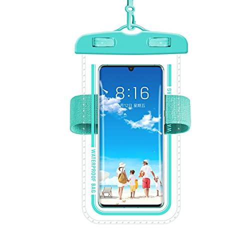 Bolsa impermeable para teléfono, material de plástico resistente al agua, alrededor de 7.5 x 4.3 x 0.3 pulgadas bolsa impermeable para buceo, barco, natación, actividades en la playa, etc.
