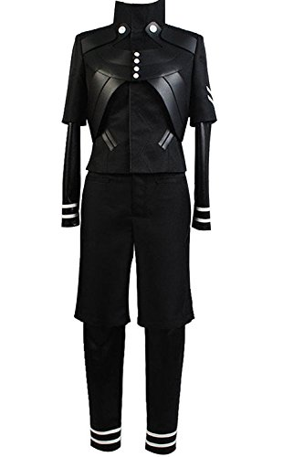 Ya-cos Halloween Men's Tokyo Ghoul Ken Kaneki Jumpsuit Battle Uniform Cosplay Costume