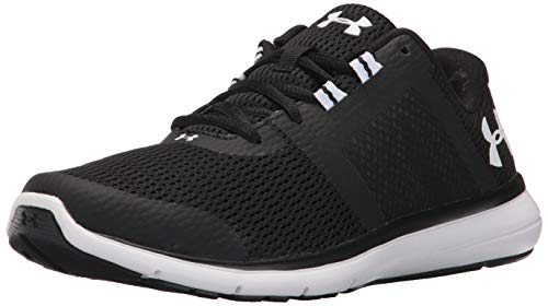 Under Armour Women's Fuse FST Running Shoe, Black (001)/White, 8.5